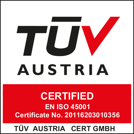 ISO 45001 - 2007 -TUV AUSTRIA